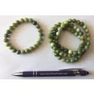 Wrist band, jade, 8 mm spheres, 1 piece