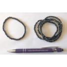 Wrist band, golden obsidian, 4 mm spheres, 1 piece
