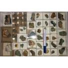Mixed minerals, Grube Glücksrad, Oberschulenberg, Harz, Germany, 1 flat