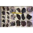 Hematite, Hausmannite crystals, etc., Grube Gottlob, Friedrichrode, Germany, 1 flat