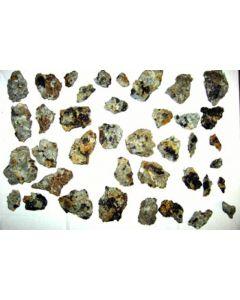 Ferrokentbrooksit, Wöhlerit, Annit, Zirkon, etc., Trompetholmen, Langesundsfjord, Norwegen, 1 Steige