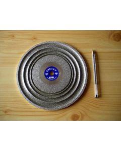 Cabochon Diamant-Polierscheibe (Schleifscheibe) 20 cm, 0080er