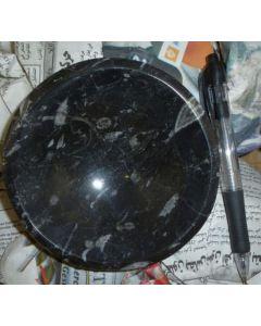 Orthoceras-Schüssel, rund, schwarz, ca. 10-12 cm, 1 Stück