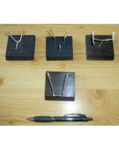 Holzständer mit biegsamer Halterung aus Echtsilber (für Achatscheiben)