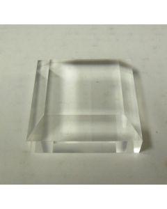 Plexiglassockel, ganz poliert, 5,1 x 5,1 x 1,2 cm, 20 Stück (BV2x20)
