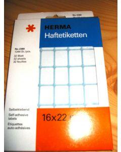 Aufklebeetiketten für MM-Kästen, 16 x 22 mm