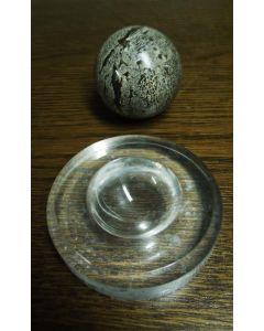 Plexiglassockel, Eier/Kugelständer, rund, ganz poliert, 7,5 x 1,3 cm, 10 Stück (RD52x10)