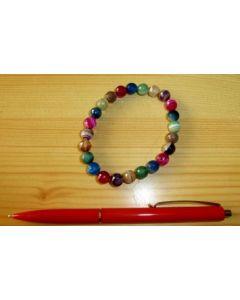 Armband, gefärbter Achat, facettierte Kugeln, 6 mm, 1 Stück