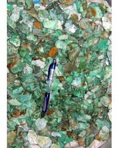 Chrysopras mit Pimelit, größere Stücke, Szklary, Niederschlesien, PL, 1 kg
