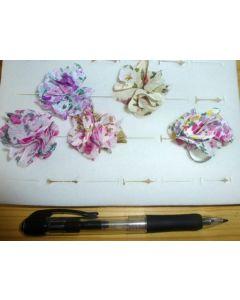Blütenringe aus Textil