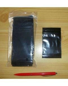 Polybeutel (Druckverschußbeutel) schwarz 040 x 060 mm