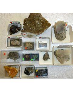 Smithsonit xx, Tsumeb + Berg Aukas, Namibia, 1 Partie mit 14 Top-Stufen