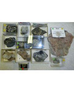 Baryt xx, N'Chwaning Mine, Südafrika, 1 Partie mit 12 Top-Stücken