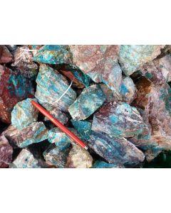 Chrysokoll mit Baryt, Rowley Mine, AZ, USA. 1 kg