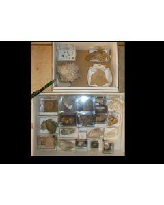 Alpine Mineralien aus der Schweiz, 1 Partie (2 Steigen aus der Sammlung Ecker)