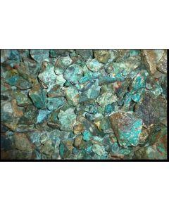 Chrysokoll mit Matrix, Morenci Mine, AZ, USA, 100 kg