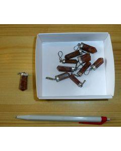 Anhänger aus Granat (Spessartin), Echtsilberfassung, 1 Stück