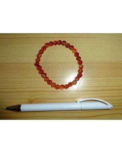 Armband, Karneol, 6 mm Kugeln, 1 Stück