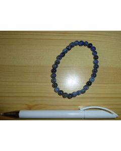 Armband, Sodalit, 6 mm Kugeln, 1 Stück