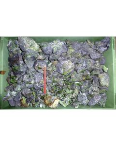 Chrom-Tremolit mit Graphit, Tansania, 1 kg