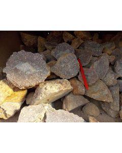 Achat-Knollen, gesägt, FBW-N, Sachsen, D. 1 kg