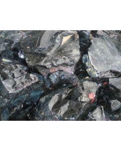 Obsidian; Gyumush-Dzhraber-Fantan, Armenien; MM