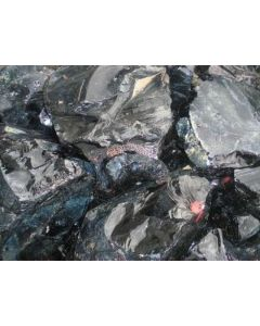 Obsidian; Gyumush-Dzhraber-Fantan, Armenien; NS