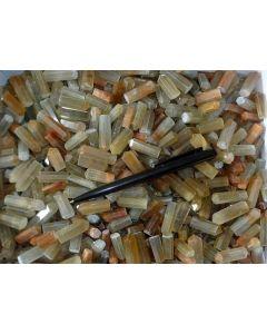 Rutilquarz, polierte Spitzen, Afghanistan, 10 Stück