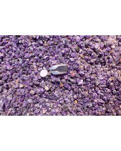 Amethyst (Schleifware, klar), in Stücken, Sambia, 1 kg