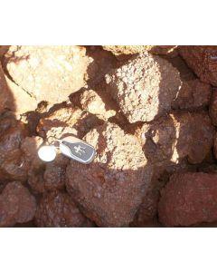Eisenoolith, Eisenrogenstein, oolithisches Eisenerz, Kalkoolith, Sambia, 1 kg