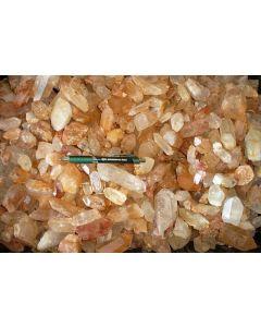 Bergkristall (X), klar, in Kristallen oder Kristallstücken, Sambia, 1 kg