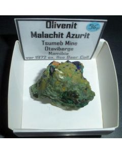 Olivenit xx; Tsumeb Mine, Otavi Bergland, Namibia; KS