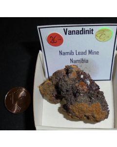 Vanadinit xx; Namib Lead Mine, Swakopmund, Namibia; KS