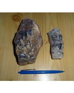 Fluorit Kristalle (bunt, auf Matrix, ungereinigt), Uis, Namibia, 1 kg