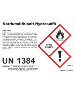 Natrium-Dithionit, Natriumdithionit, Natriumhydrosulfit 10 kg