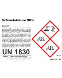 Schwefelsäure 96% 1 l (= 1,84 kg)- Abgabebeschränkung!