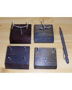 Holzständer mit biegsamer Halterung aus Echtsilber (3-Stützen)