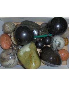 Gemische Schmucksteine, poliert, Madagaskar, 1 kg