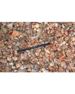 Eisenkiesel (Hämatoid Quarz, gemmy), Madagaskar, 100 g