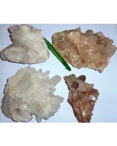 Bergkristall xx auf Matrix, Himalaya-Quarz, Himalaya, Indien, 1 kg