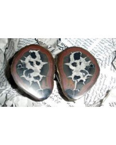 Septarien-Paare (poliert) 5-7 cm, Marokko, 10 Paare