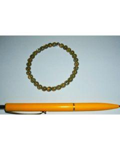 Armband, Labradorit, 6 mm Kugeln, mit Echtsilberkugel, 1 Stück