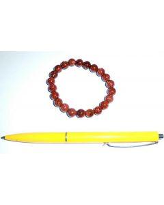 Armband, Goldfluß, 8 mm Kugeln, 1 Stück