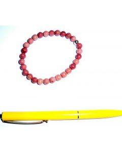 Armband, Thulit und Echtsilberkugel, 6 mm Kugeln, 1 Stück