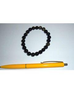 Armband, Goldobsidian, 8 mm Kugeln, 1 Stück