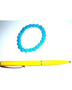 Armband, Quarz (türkis gefärbt), 8 mm Kugeln, 1 Stück