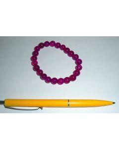 Armband, Quarz (pink gefärbt), 8 mm Kugeln, 1 Stück