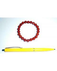 Armband, Jaspis (rot), 8 mm Kugeln, 1 Stück