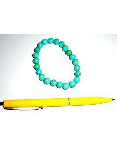 Armband, Türkis (Howlit, gefärbt), 8 mm Kugeln, 1 Stück