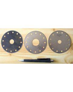 Diamant-Sägeblatt (Trennscheibe), 97 mm Durchmesser, 16 mm Aufnahme, 0.4 mm Stärke, Körnung 100/80
